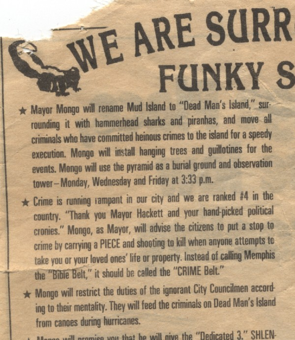 [We ARE SURROUNDED BY FUNKY SKUNKS]