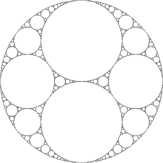 many many circles touching tangentally