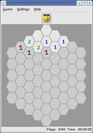[Hexagonal Minesweeper.]